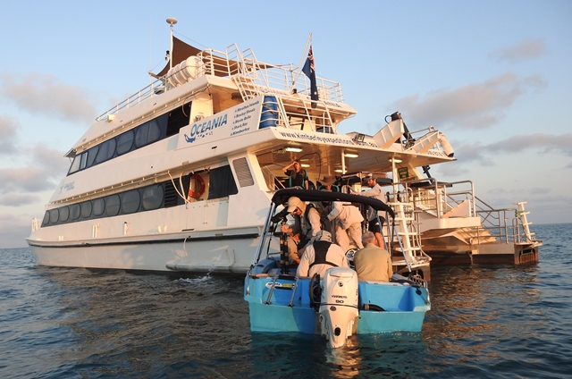 'MV Oceania', owned and run by Kimberley Expeditions, the vessel is very well suited to this trip