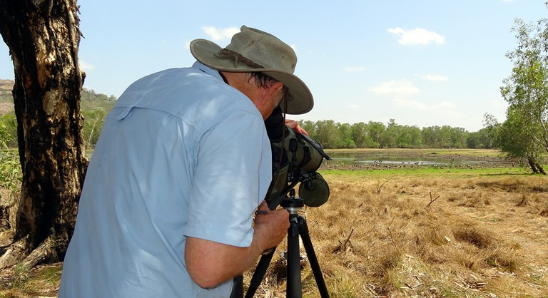Scoping the Anbangbang Billabong near Burrunggui, Kakadu National Park